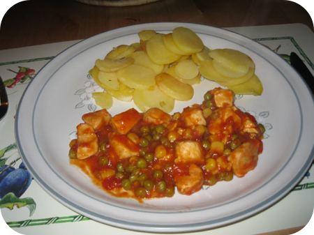 Mexicaanse Kip, Doperwten, Mais en Paprika