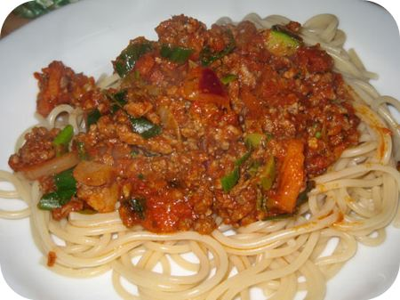 Spaghetti met Bertolli zongedroogde tomatensaus