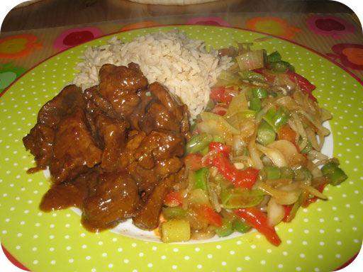 Sajoer Tjampoer met Redang Vlees en rijst