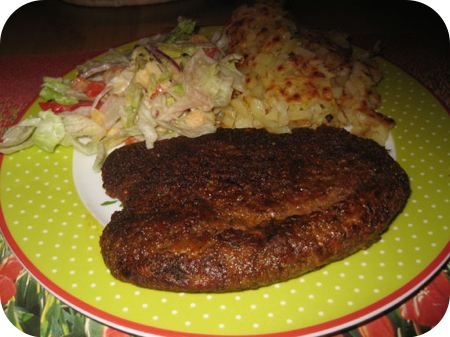 Waldschnitzel met boerensalade en rosti