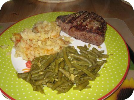 Biefstuk met Rosti en Sperziebonen