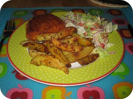 Kip Cordon Bleu met Toscaanse aardappeltjes en Boerensalade