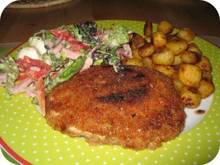 Orientaalse Schnitzel met een Maaltijdsalade