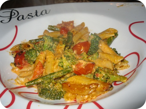 Penne met Broccoli, Sperziebonen en Pesto-Mascarponesaus