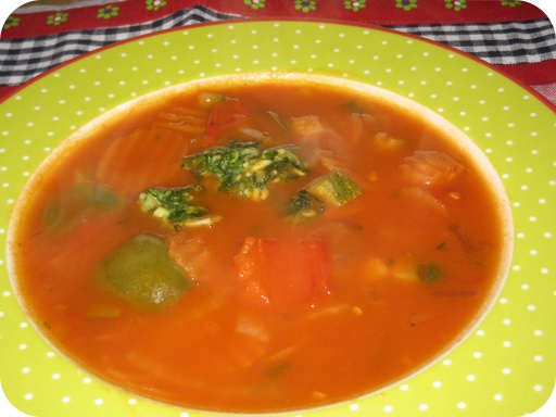 Franse Tomatensoep met Pistou