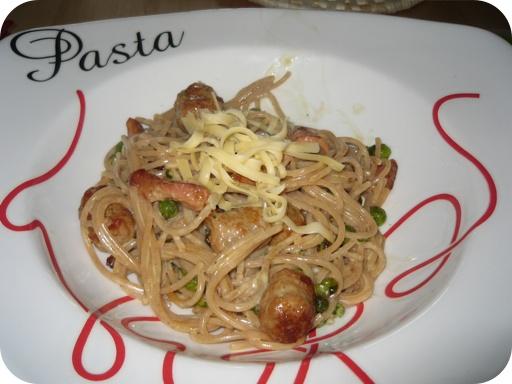 Spaghetti met Doperwten en Balletjes