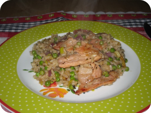 Risotto met Doperwten en Bacon