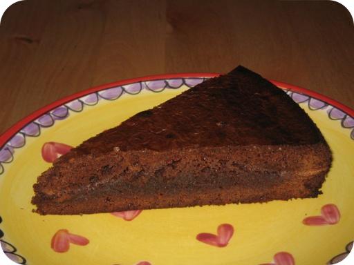 Chocolade Fudge Taart punt