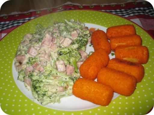 Broccoli met Roomkaas en Aardappelkroketjes