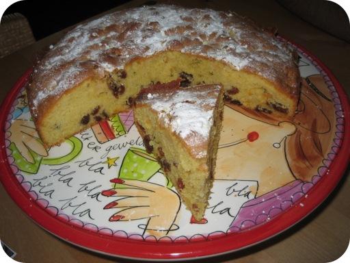 Cake met Appel en Rozijnen