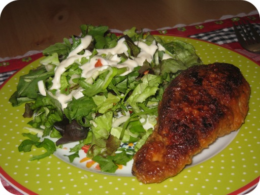 Kip Cordon Blue met Salade