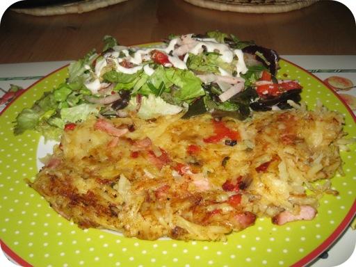 Aardappelkoek met Italiaanse Salade