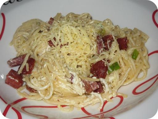 Spaghetti met Chorizo, Bosui en MonChou
