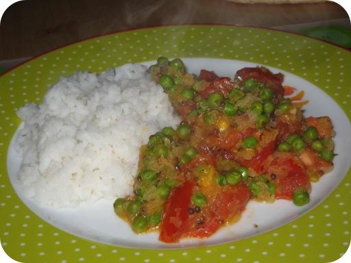 Doperwten Curry