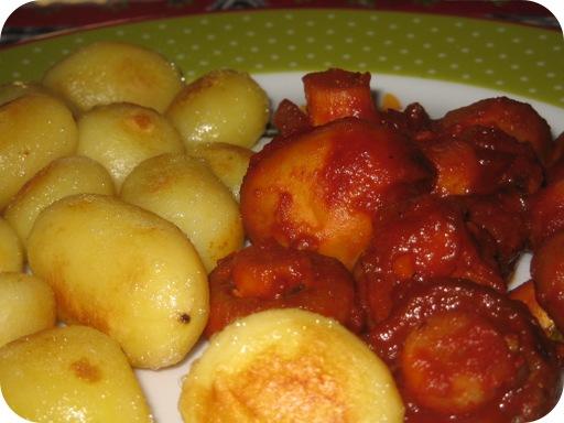 Champignons in Tomatensaus