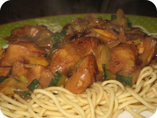 Kipfilet met Courgette en Amandelschaafsel