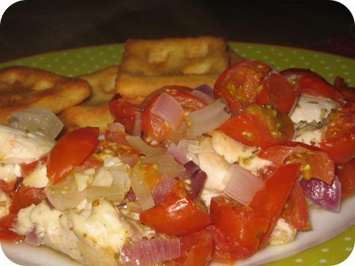 Kipfilet met Tomaatjes en Ui uit de Oven