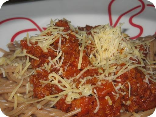 Spaghetti met Toscaanse Vleessaus