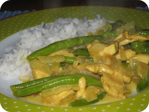 Curry met Sperzieboon en Kipfilet