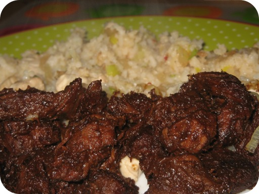 Daging Smoor en Nasi Goreng