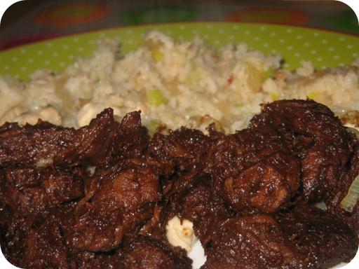 Daging Smoor en Nasi Goreng