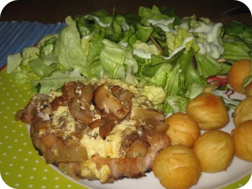 Pakketjes met Varkensfilet en Champignons