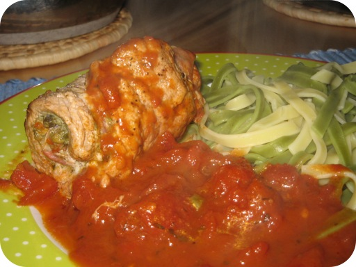 Italiaans Vleesrolletje met Tagliatelle