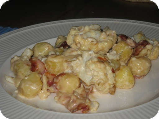 Bloemkool-Aardappelschotel