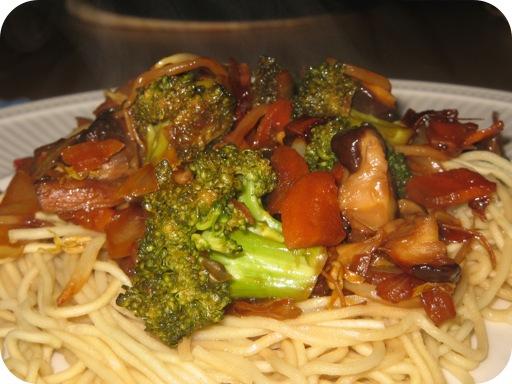 Broccoli met Wortel, Shiitake en Tauge