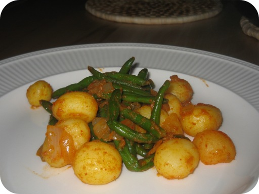 Hot Sperziebonen Curry