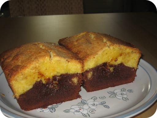 Duo-cake met Sinaasappel en Chocolade