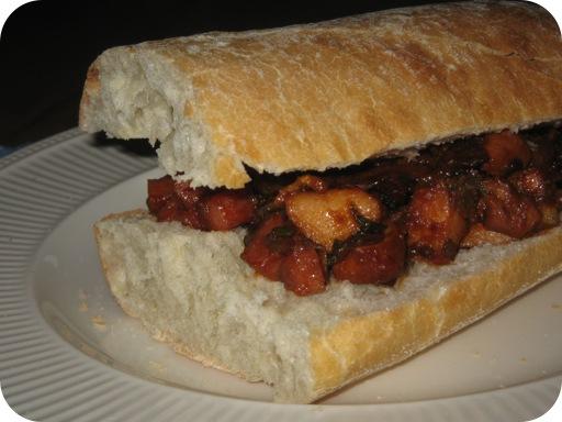 Broodje met Zoete Kipfilet
