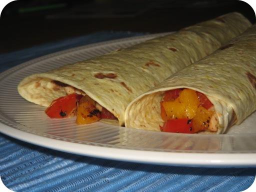 Wraps met Kip, Paprika en Limoen