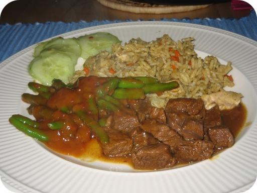 Nasi Rames met Redang Vlees