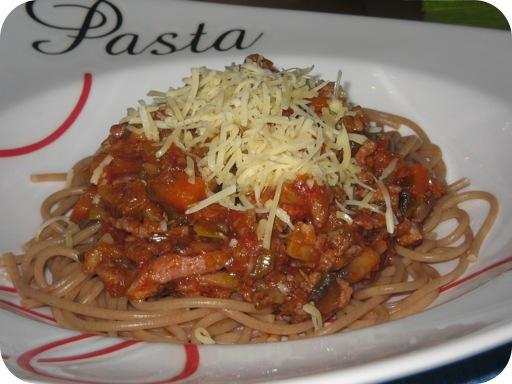 Spaghetti met een Groentenvleessaus