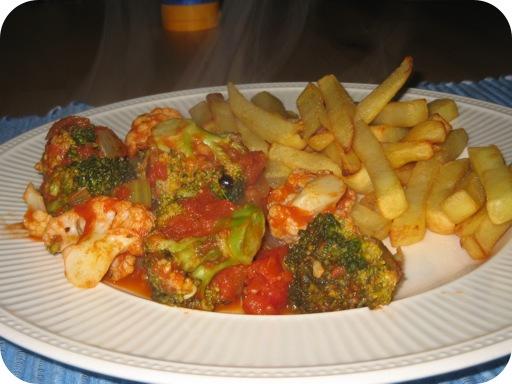 Bloemkool en Broccoli met Tomatensaus