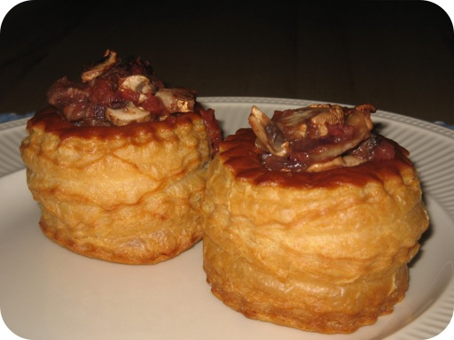 Pasteitje met Rundvlees,Champignons & Tomaat