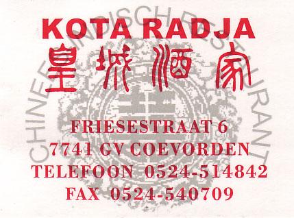 Kota Radja - Coevorden