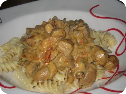 Pasta met Champignons in Romige Mosterdsaus