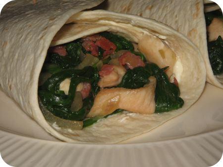 Spinazie en Kip Burrito