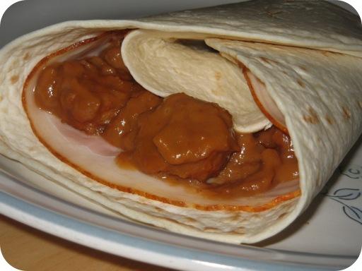 Varkenssate Burrito