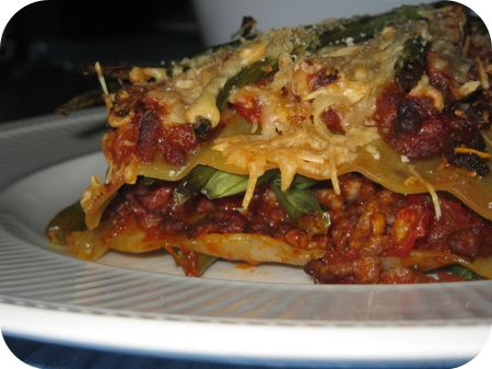 Sperziebonen Lasagne
