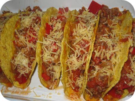 Taco's met Gehakt en Tomaat