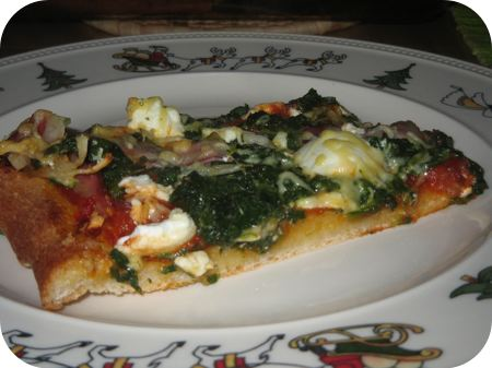 Pizza met Spinazie en Ricotta
