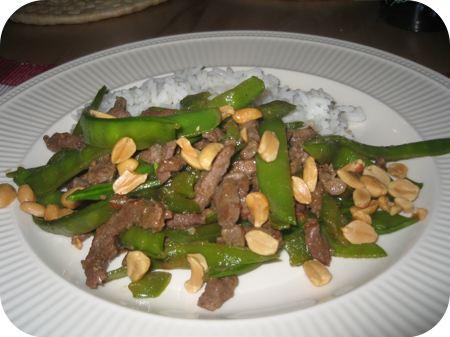 Rijst met Rundvlees, Paprika en Peultjes