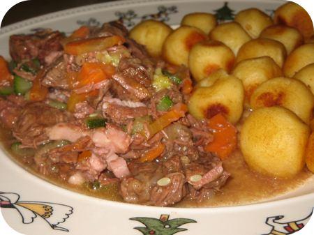 Stoverij van Rundvlees, Courgette en Wortel