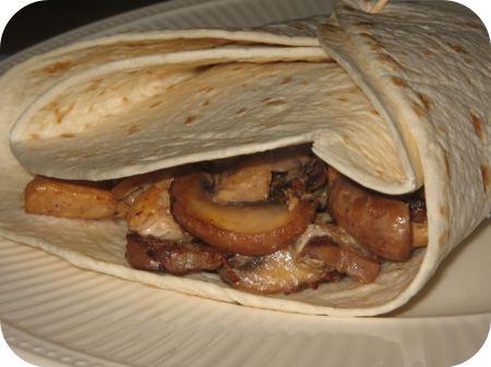 Burrito's met Kipfilet en Champignons