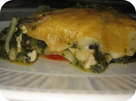 Lasagne met Spinazie en Kip