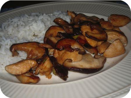 Rijst met Kipfilet en Shiitake