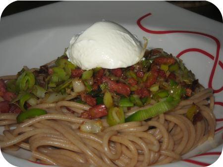 Spaghetti met Prei